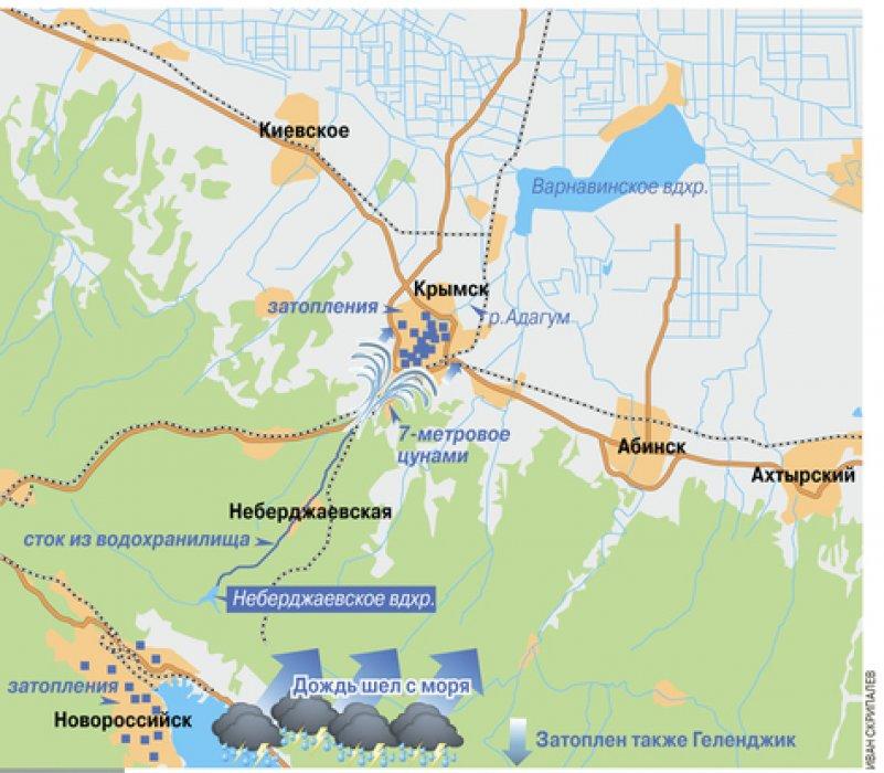 Что на самом деле случилось с Крымском? Смертельную волну создал не сброс с Неберджаевки, а забитые ливневки, нечищенные русла рек и неисправные гидротехнические сооружения вниз по течению Адагума?