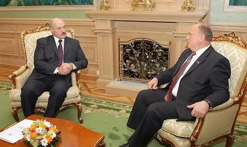 Президент Белоруссии А.Г. Лукашенко на встрече в Минске поблагодарил лидера КПРФ Г.А. Зюганова за поддержку