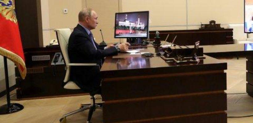 «Символ правления». В резиденции Путина установлен дезинфекционный туннель