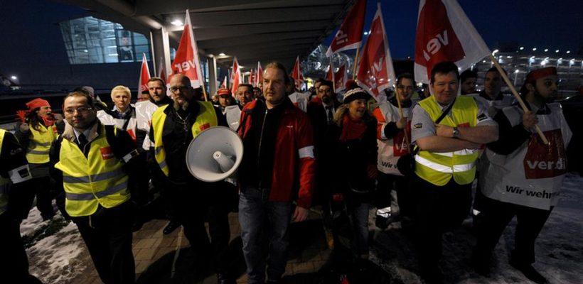 Забастовка сотрудников служб безопасности пройдет 15 января в восьми аэропортах Германии