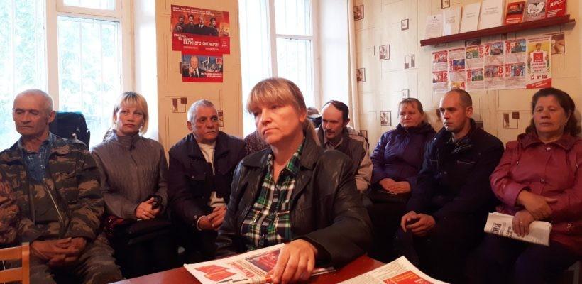 Делегаты съезда, члены ЦК КПРФ встретились с партийным активом Чучковского и Михайловского районов области