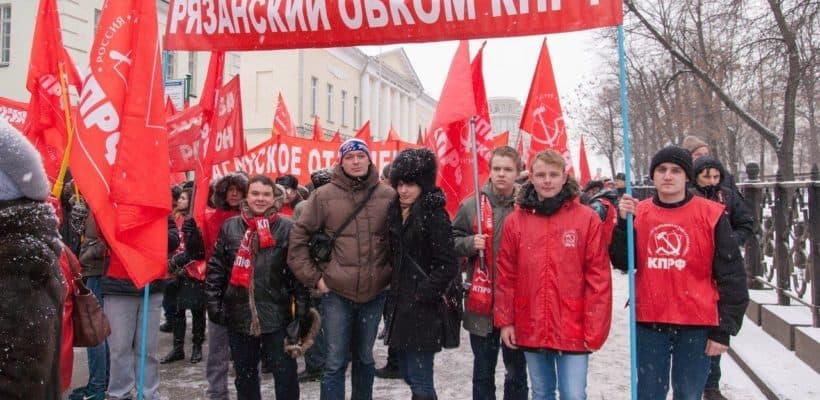 Празднование дня Советской Армии и Военно-Морского Флота в Москве