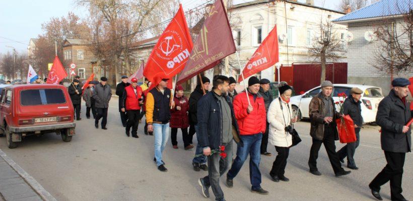 101-я годовщина Великого Октября в Касимове