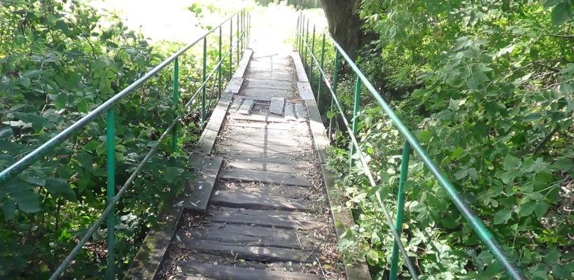 Андрей Любимов помог отремонтировать мостик в Ключе