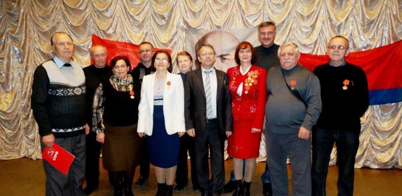 Торжественное собрание в Новомичуринске посвящённое 100-летнему юбилею  Великой Октябрьской социалистической революции