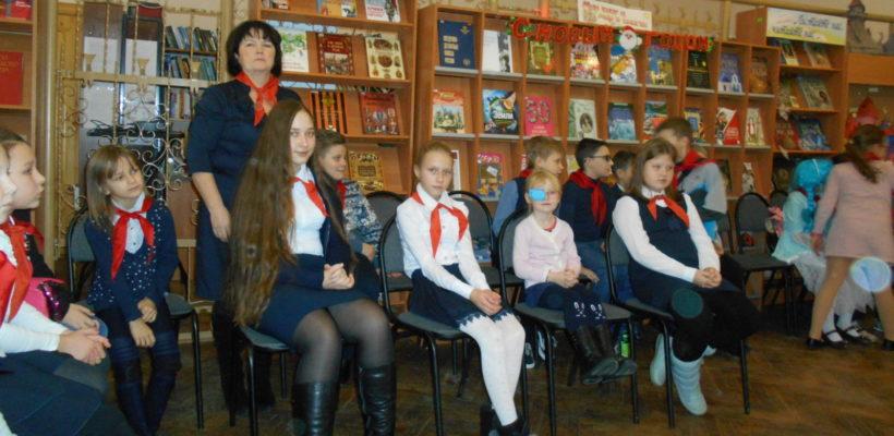 Делегация пионеров из Клепиковского района на областной новогодней пионерской ёлке