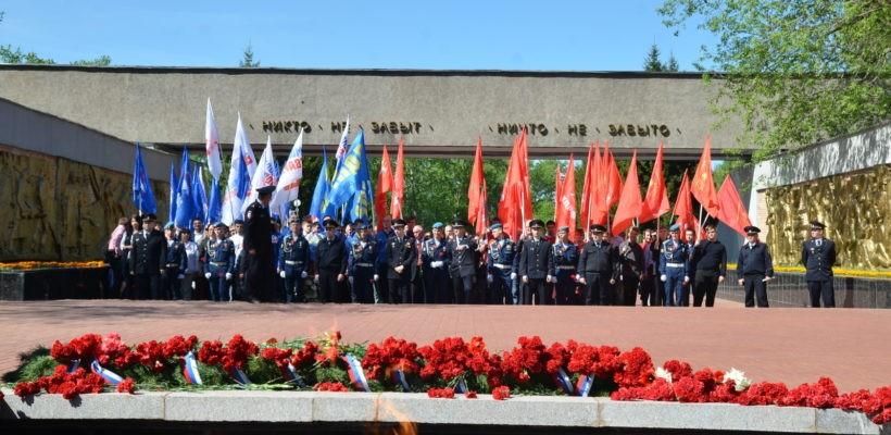 Бессмертного подвига будем достойны! Рязанские коммунисты приняли участие в возложении цветов на Мемориальном комплексе