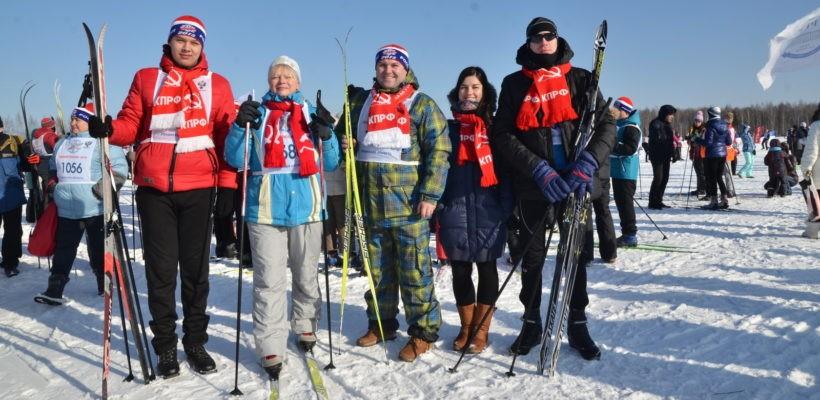 Рязанские коммунисты приняли участие в Лыжне России 2018