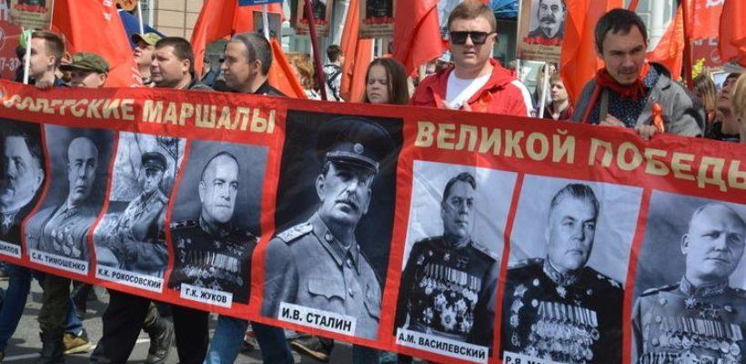 Во главе колонны «Бессмертного полка» должны быть портреты Сталина и маршалов СССР