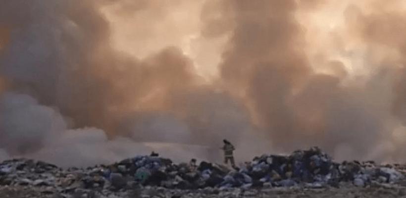 После очередного пожара на свалке тумчане попросили Любимова оценить масштабы бедствия