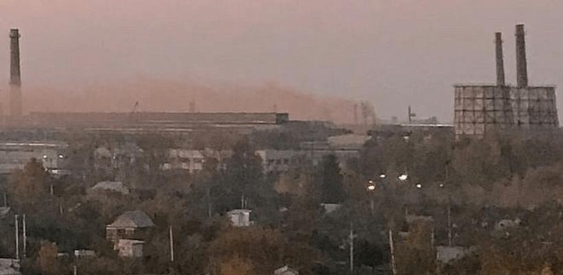 Рязанцы засняли «утренние» выбросы над Канищевом
