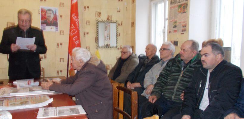 В Чучково состоялось торжественное собрание, посвящённое 140-ой годовщине со дня рождения И.В.Сталина